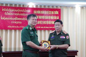 Cục Nhà trường, Bộ Tổng Tham mưu QĐND Lào thăm, làm việc tại Học viện Biên phòng