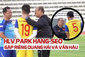 HLV Park gặp riêng Quang Hải, Văn Hậu trước trận chung kết với Curacao