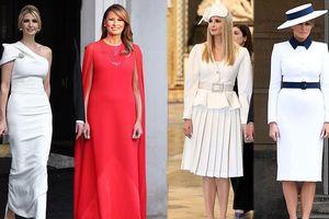 Thời trang đẳng cấp của vợ và ái nữ Tổng thống Trump trong chuyến thăm Anh