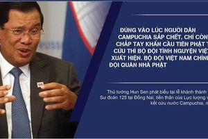 Thủ tướng Campuchia Hun Sen nói về 'Đội quân nhà Phật'