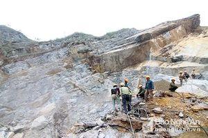 Nam công nhân rơi xuống vách núi tử vong khi đang khai thác đá
