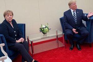Bức ảnh 'tố' mối quan hệ căng thẳng giữa Thủ tướng Đức và Tổng thống Trump