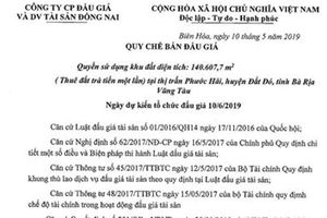 Bà Rịa Vũng Tàu: Bất thường trong vụ đấu giá 14ha đất tại huyện Đất Đỏ