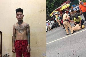Tạm giam thanh niên không đội mũ bảo hiểm, tông gục CSGT