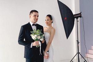 Hé lộ ảnh cưới của siêu mẫu Phương Mai và chồng Tây
