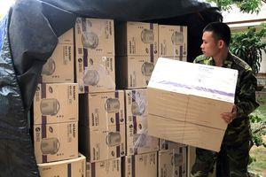 Thu giữ hàng hóa nhập lậu qua biên giới trị giá gần 150 triệu đồng