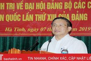Bí thư Tỉnh ủy Lê Đình Sơn quán triệt nội dung Hội nghị Trung ương 10