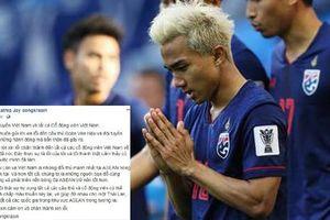 'Messi Thái Lan' lên tiếng xin lỗi bằng tiếng Việt sau phát ngôn gây sốc về việc cổ vũ đồng đội 'vả' Đoàn Văn Hậu