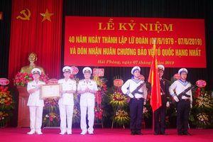 Lữ đoàn Hải quân 679 đón nhận Huân chương Bảo vệ Tổ quốc hạng Nhất