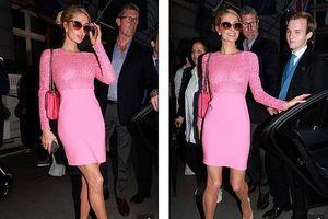 Kiều nữ Paris Hilton đẹp rạng ngời với đầm hồng rực rỡ tham dự sự kiện