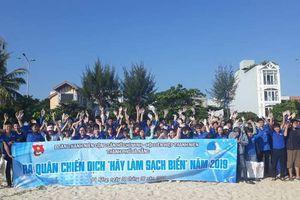 200 đoàn viên, thanh niên Đà Nẵng tham gia chiến dịch 'Hãy làm sạch biển'