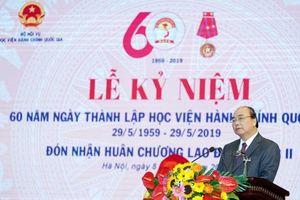 Thủ tướng: Học viện HCQG phải xây dựng theo hướng học viện điện tử