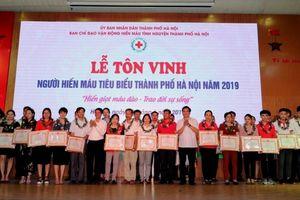 Tôn vinh người hiến máu tiêu biểu Thủ đô năm 2019