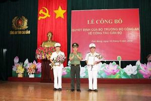 Bổ nhiệm 2 Phó giám đốc Công an tỉnh Cao Bằng