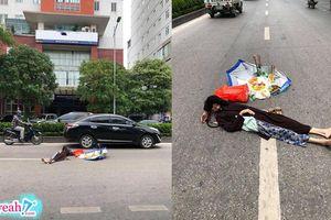 Cụ bà nằm ngất giữa đường vì nắng nóng, người đi đường tưởng đã 'ra đi' nên mang nhang ra cúng vội