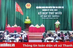 HĐND huyện Tĩnh Gia tổ chức Kỳ họp bất thường, thông qua chủ trương sắp xếp các đơn vị hành chính cấp xã