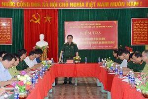 Kiểm tra công tác phối hợp giữa dân quân tự vệ với các lực lượng tại huyện Trùng Khánh