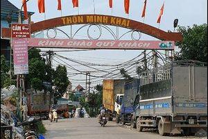 Hưng Yên: Dự án Làng nghề Minh Khai mới nghiệm thu đã xuống cấp