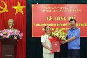 Bổ nhiệm Phó viện trưởng VKSND tỉnh Lạng Sơn