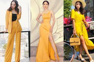 Ngoài H'Hen Niê vẫn còn một nàng Hậu mê mẩn trang phục màu vàng chói lọi