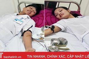 2 nhân viên BVĐK Hồng Lĩnh trực tiếp hiến máu cứu bệnh nhân