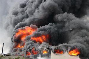 Cháy lớn tại Khu công nghiệp Thụy Vân, Phú Thọ