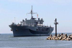 Cận cảnh tàu chiến Mỹ tiến vào sân sau của Nga tập trận