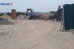 Công an quận Hà Đông hồi âm Pháp luật Plus sau phản ánh bãi tập kết vật liệu xây dựng hoạt động trái phép