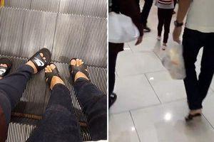 Chàng trai đi giày cao gót trong siêu thị gây tò mò nhưng biết lý do ai cũng cảm động