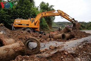 Thông đường tạm thời tỉnh lộ 132 nối các xã biên giới Lai Châu
