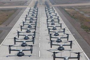 40 máy bay đắt hơn F-35 của lính thủy đánh bộ Mỹ diễu binh 'Voi đi bộ' hoành tráng