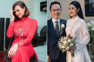 MC Phương Mai và Phí Linh chọn áo dài có thông điệp gì ở lễ ăn hỏi?
