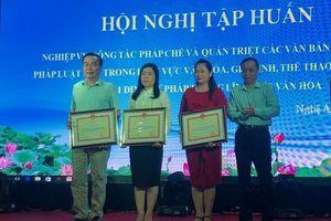 Bộ VHTTDL: Hội nghị tập huấn nghiệp vụ công tác pháp chế cho các tỉnh phía Bắc
