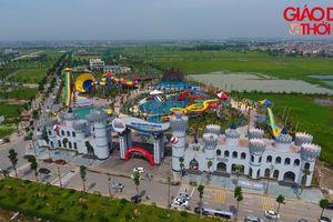 Cận cảnh Công viên nước Thanh Hà bị đình chỉ sau 2 ngày khai trương