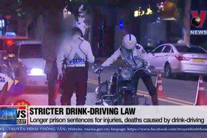 Hàn Quốc nâng mức phạt lái xe say rượu
