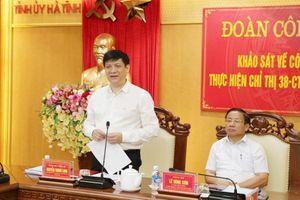 Hà Tĩnh là điểm sáng trong việc triển khai các nghị quyết, chỉ thị của Đảng