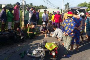 Xe máy tông nhau, 1 người tử vong tại chỗ, 1 người nguy kịch