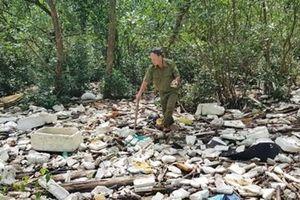 Rác thải nhựa tràn vào rừng phòng hộ