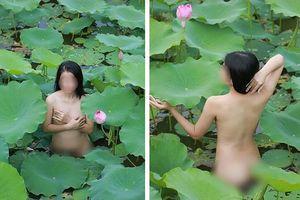 Bị phát tán ảnh khỏa thân bên đầm sen, diễn viên Thu Hương cầu cứu cơ quan chức năng