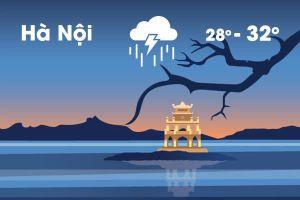 Thời tiết ngày 14/6: Hà Nội mưa dông cả ngày, Trung Bộ nắng nóng