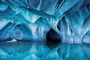 Hang đá cẩm thạch, kỳ quan thiên nhiên đẹp như cổ tích ở Chile