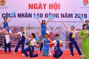 KIÊN GIANG: 600 đoàn viên tham gia Ngày hội công nhân lao động