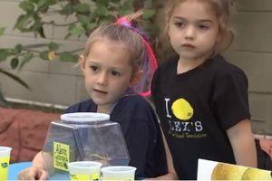Bé gái 5 tuổi bán nước chanh quyên góp 256 triệu đồng cho bệnh viện