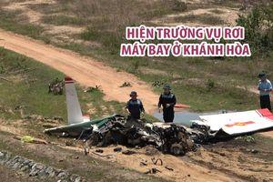 Hiện trường vụ rơi máy bay khiến 2 phi công hy sinh ở Khánh Hòa