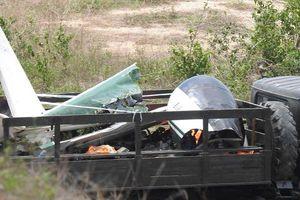 Hiện trường máy bay quân sự rơi khiến 2 phi công hy sinh ở Khánh Hòa