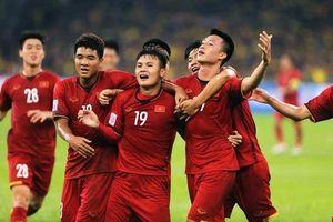 Tuyển Việt Nam vượt Thái Lan tăng 20 bậc trên BXH FIFA