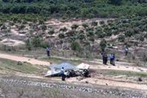 Đang tiếp cận hiện trường vụ rơi máy bay quân sự ở Khánh Hòa
