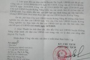 Chậm xử lý đơn thư của giáo viên, một chủ tịch huyện ở Đắk Lắk bị phê bình