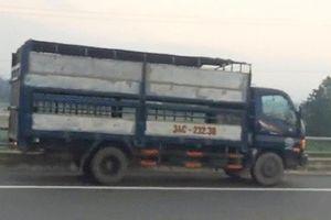 Xe tải chạy ngược chiều 'như điên' trên cao tốc