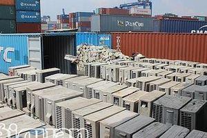 Khám 4 container vải cuộn, ván ép nhập khẩu, ra... máy lạnh